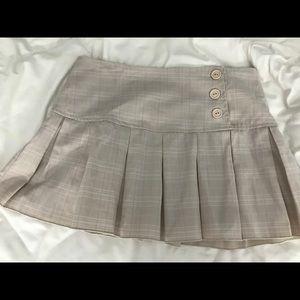 ASOS Lipsy Tan Plaid Skirt - Small